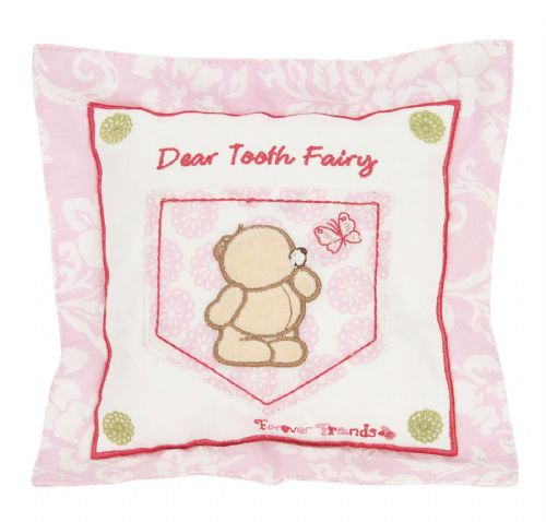 'IZZIWOTNOT' FOREVER FRIENDS PINK COLOUR TOOTH FAIRY CUSHION